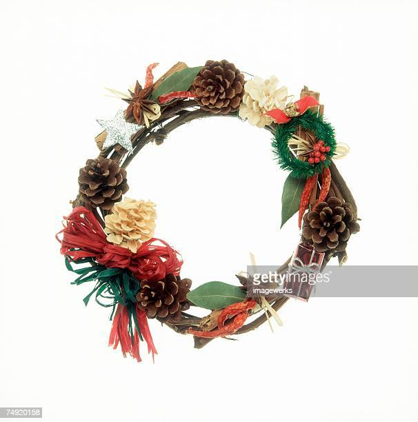 Close-up of a decorated wreath