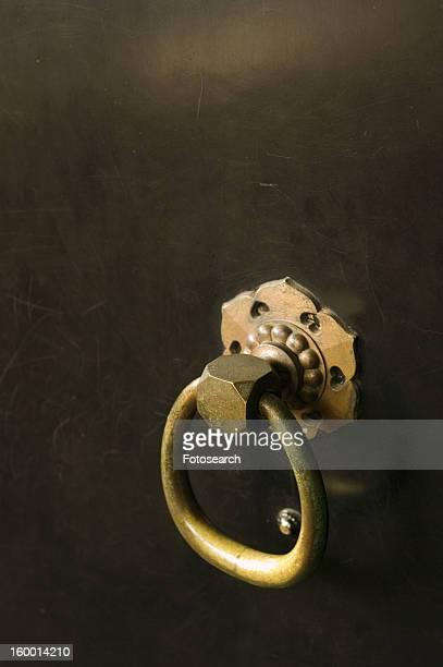 Close-up of a decorative door handle