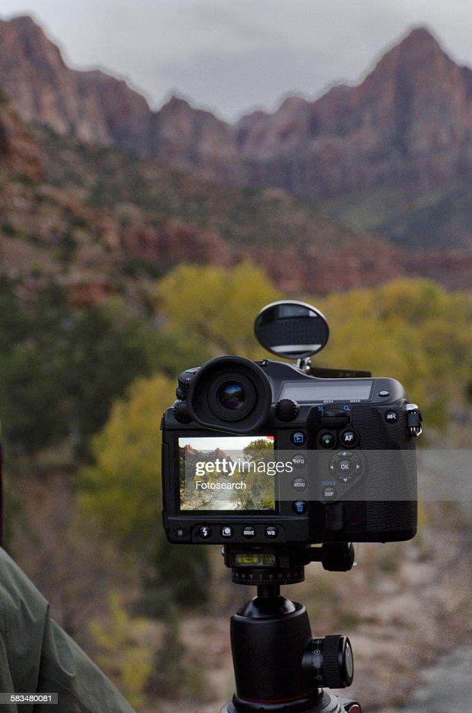 Close-up of a digital camera : Stock Photo
