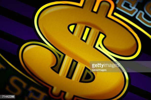 close-up of a dollar sign on a slot machine in a casino, las vegas, nevada, usa - gambling addiction stock pictures, royalty-free photos & images