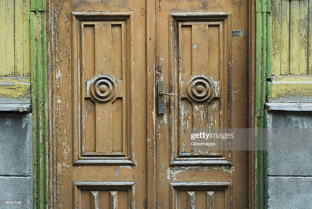 Close-up of a door : Foto de stock