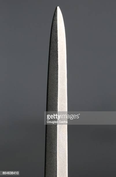 Close-up of a Double-edge straight sword