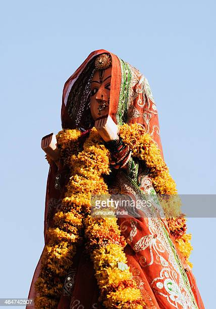 Close-up of a figurine of bride