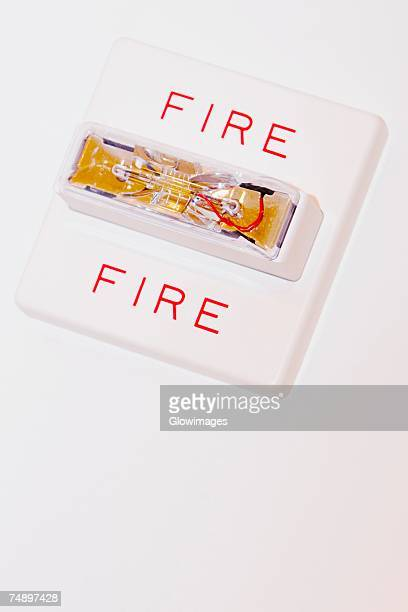 Close-up of a fire alarm on a wall