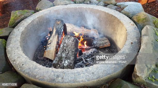 Close-up of a firepit