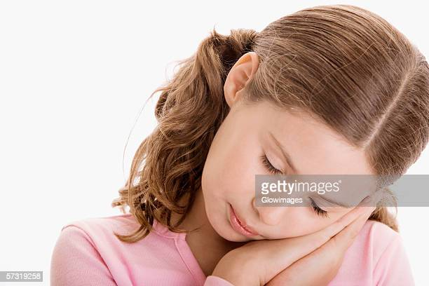 close-up of a girl sleeping - hair part stock pictures, royalty-free photos & images
