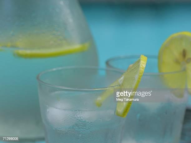 Close-up of a glass of lemonade