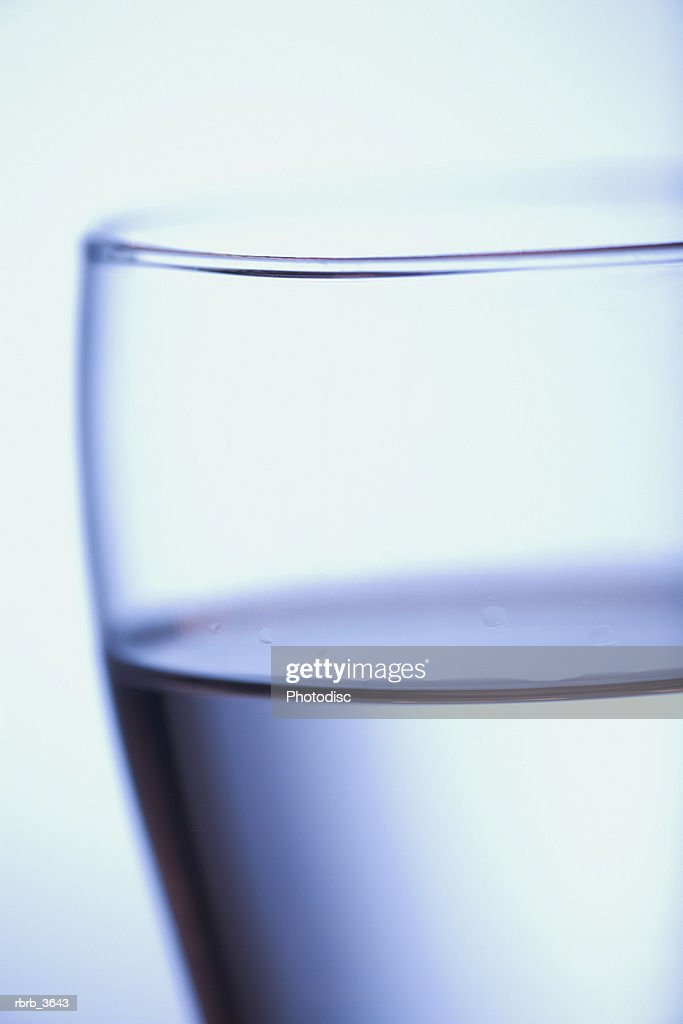 Close-up of a glass of water : Stockfoto