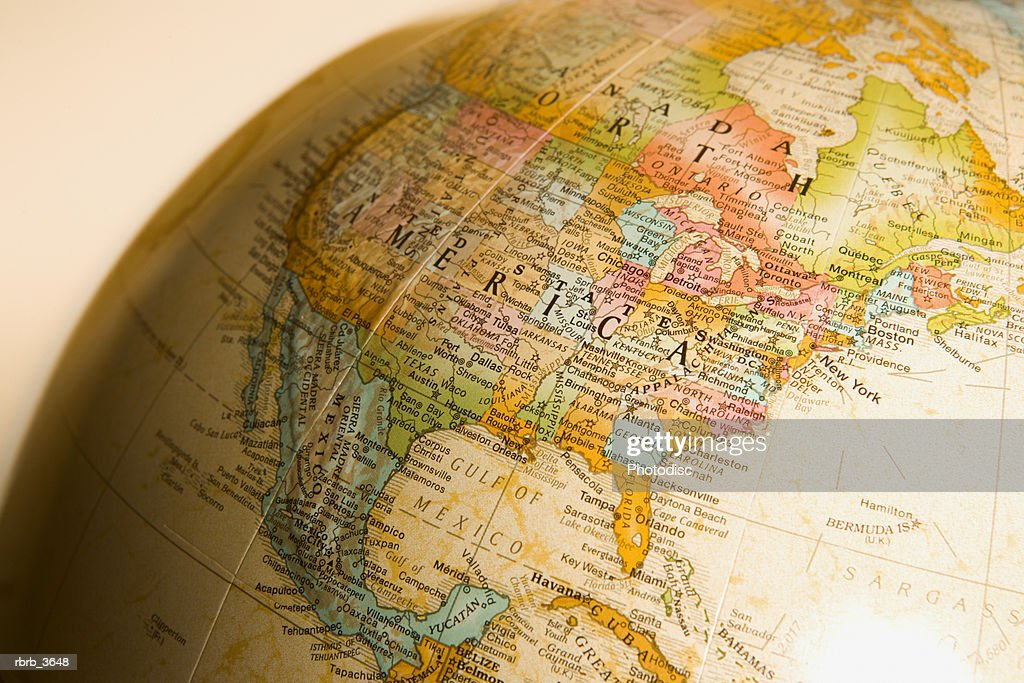 Close-up of a globe : Foto de stock