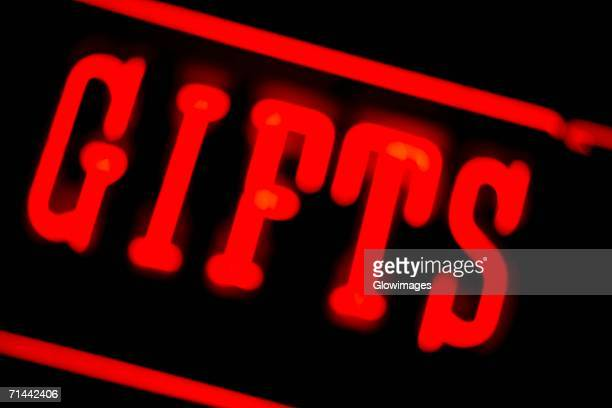 Close-up of a glowing neon sign, Las Vegas, Nevada, USA