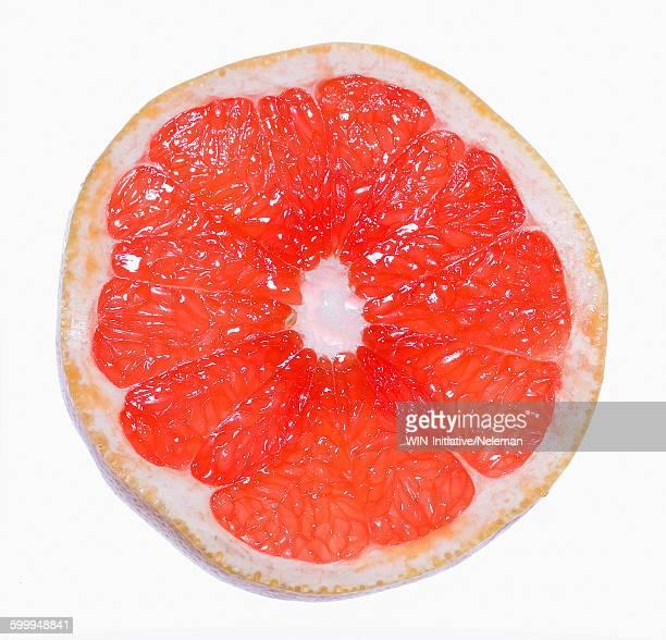 Close-up of a grapefruit slice