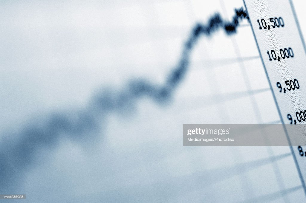 Close-up of a graphical representation : Stock Photo