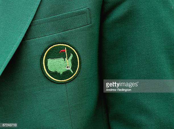 A closeup of a green jacket during practice for The Masters on April 3 2006 at the Augusta National Golf Club in Augusta Georgia
