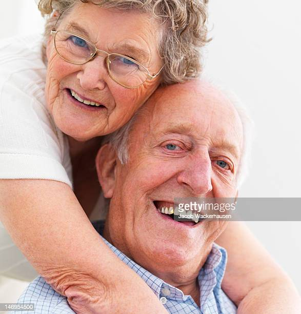 Close-up of a happy senior couple