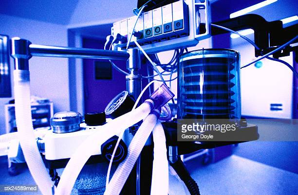 close-up of a heart lung machine in an operating room - respiratory machine stock pictures, royalty-free photos & images