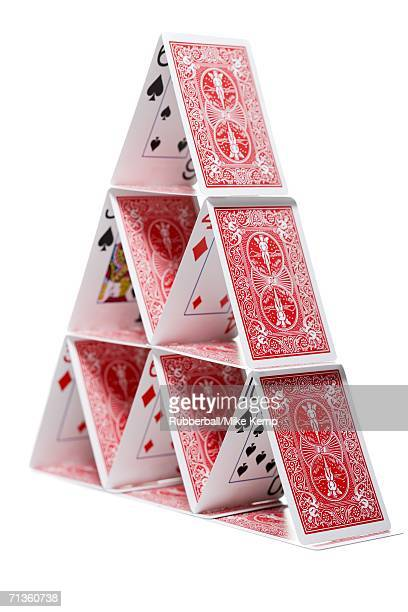 Close-up of a house of cards