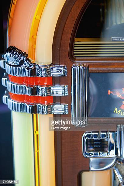Close-up of a jukebox