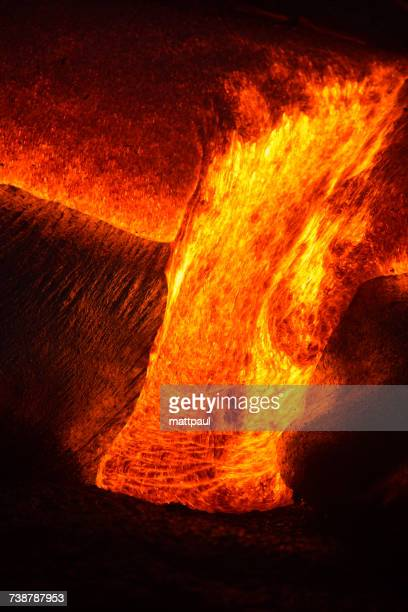 Close-up of a Lava Flow on a mountain, Hawaii, America, USA