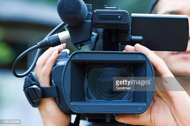 videograph - blue film video stock-fotos und bilder