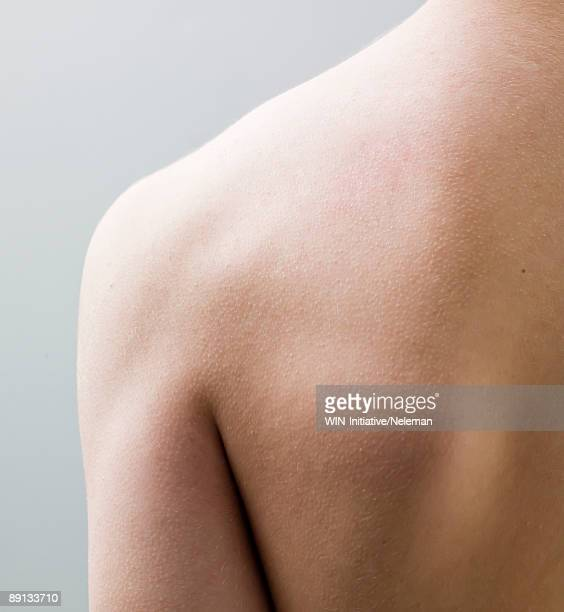 Close-up of a man's back