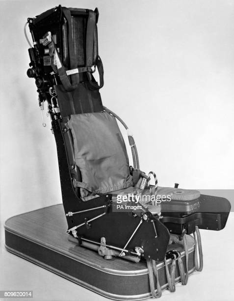 A closeup of a MartinBaker ejection seat supplied to the air forces of 68 nations by the firm of Higher Denham near Uxbridge Five thousand lives have...