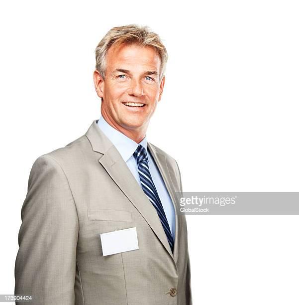 Primer plano de un empresario maduro Sonriendo