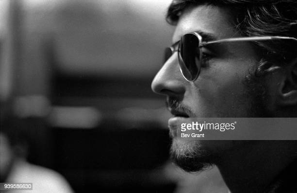 Closeup of a member of the Young Patriots Organization as he attends a Rainbow Coalition meeting at the Young Lords Party office New York New York...