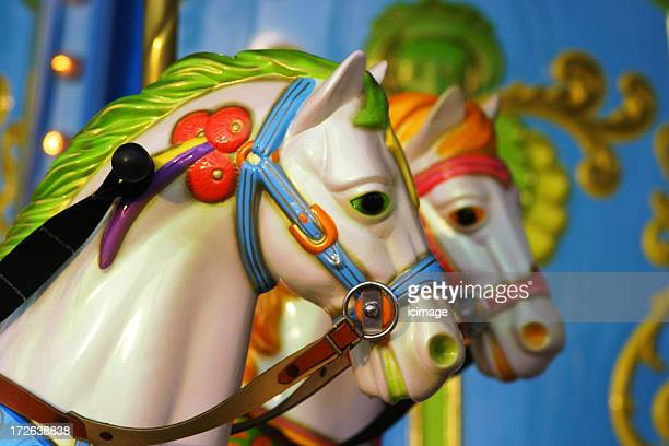 Close-up of a merry-go-round at a fairground