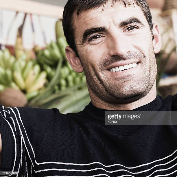 Close-up of a mid adult man smiling