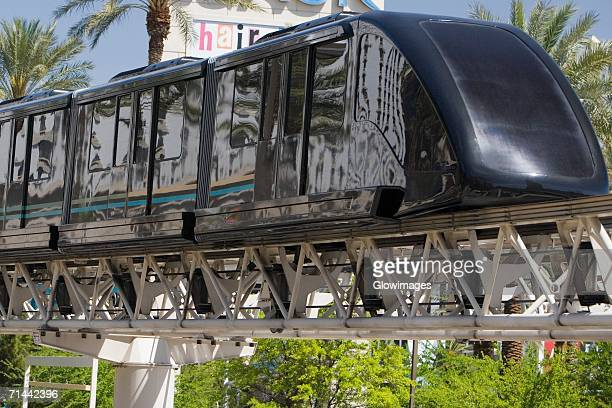 close-up of a monorail, las vegas, nevada, usa - monorail stock pictures, royalty-free photos & images