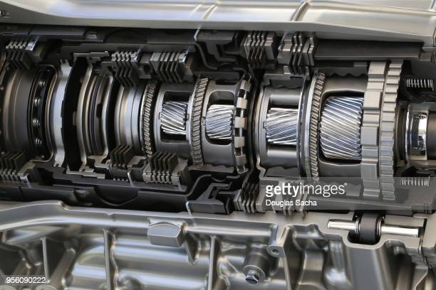 close-up of a motor vehicle gearbox transmission - gearshift stock photos and pictures