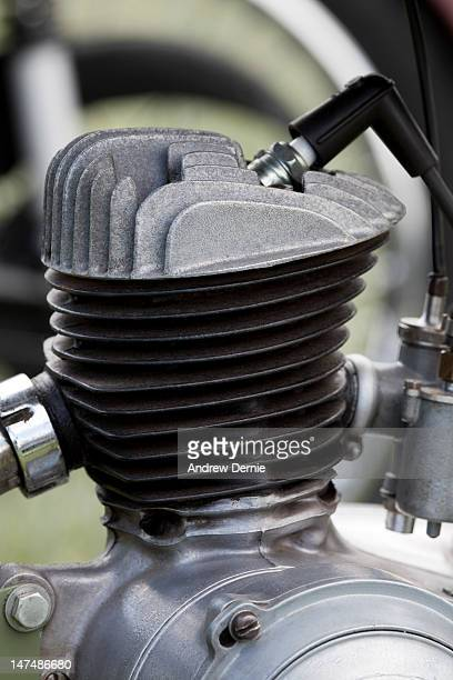 close-up of a motorcycle engine - andrew dernie stock pictures, royalty-free photos & images