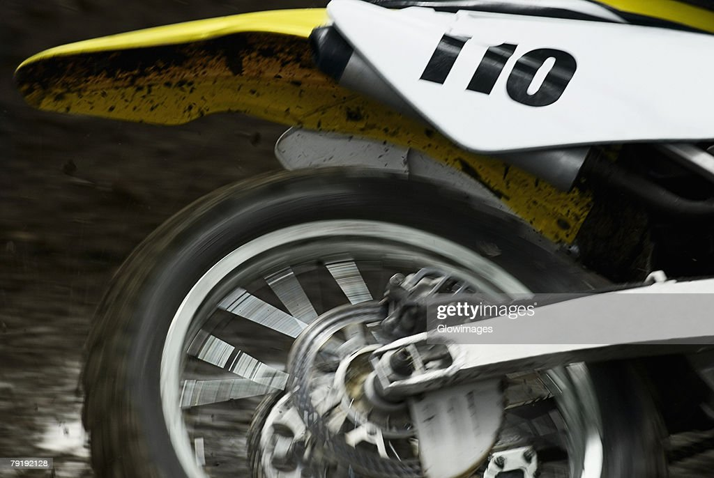Close-up of a motorcycle : Foto de stock
