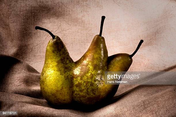 Close-up of a mutant pear
