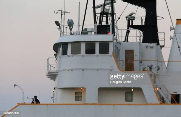 close-up of a nautical freight ship - nautical vessel ストックフォトと画像