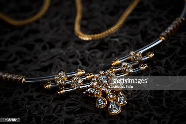 Close-up of a necklace