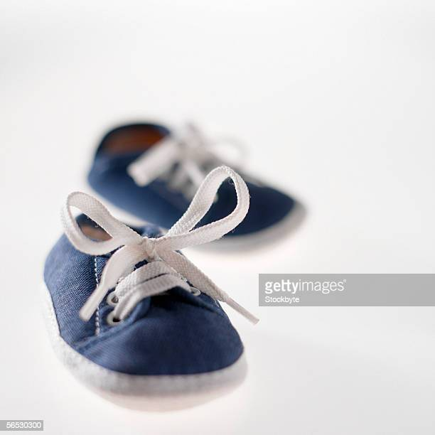 close-up of a pair of baby booties