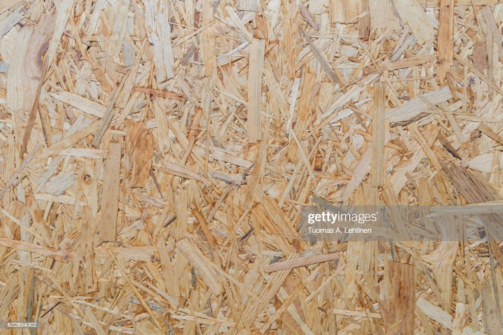 Close-up of a particle board background texture. : Photo