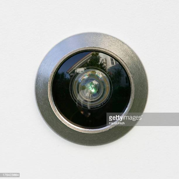 Closeup of a peephole