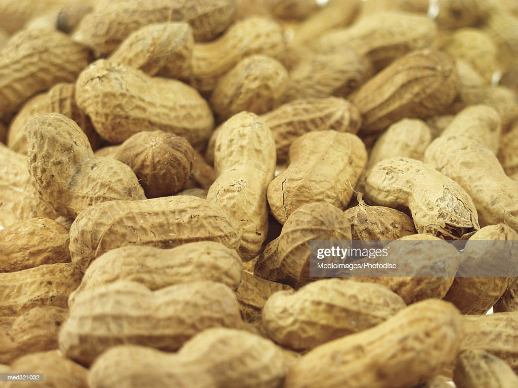 Close-up of a pile of peanuts : Stock Photo