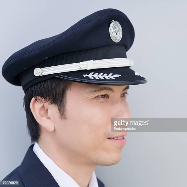 Close-up of a pilot smiling