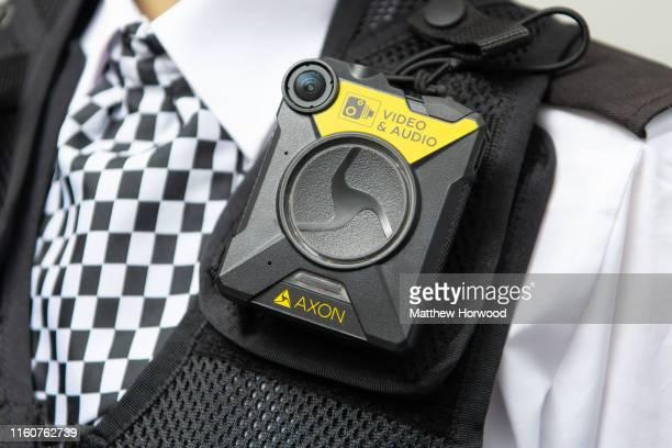 A closeup of a police bodyworn camera on June 27 2019 in Cardiff United Kingdom