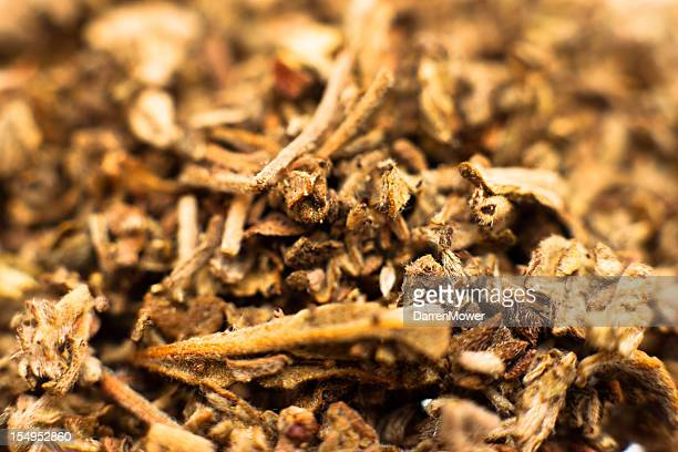 close-up of a pre grounded spice - cannabinoid stock pictures, royalty-free photos & images