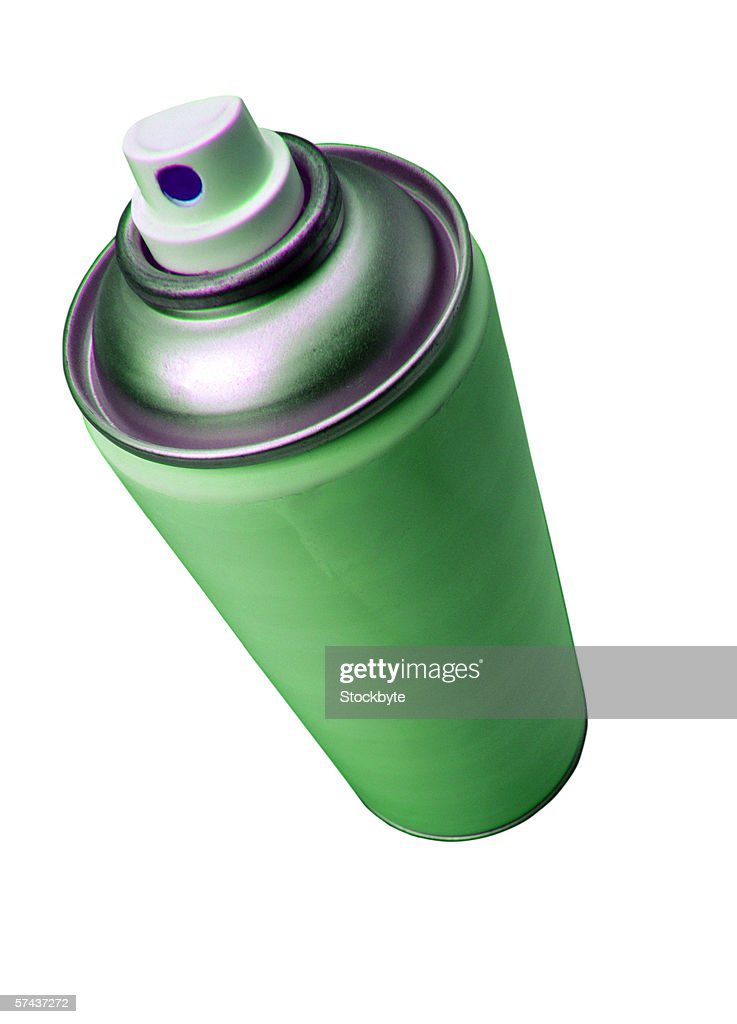 close-up of a pressurized spray can : Stock Photo