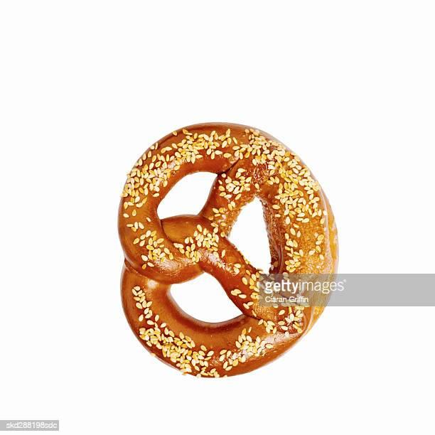 Close-up of a pretzel