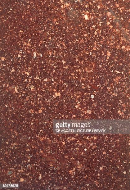 Closeup of a quartz porphyry rock