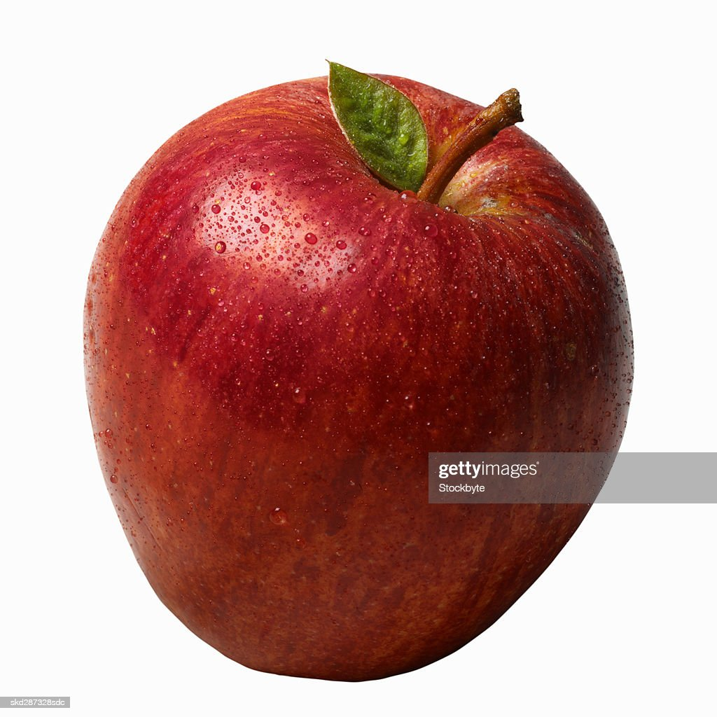 closeup of a red apple stock photo getty images