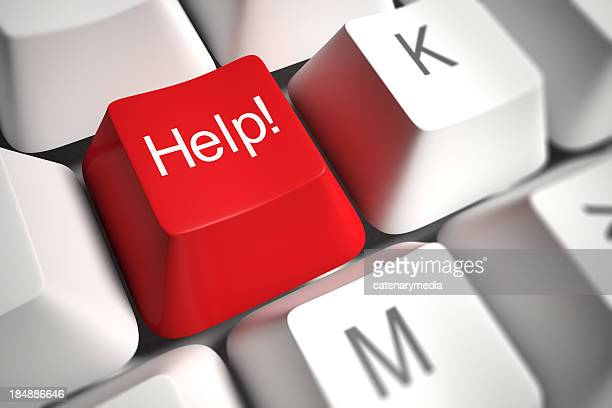 ヘルプキー - 単語 help ストックフォトと画像
