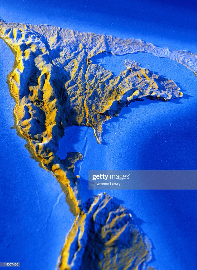 Closeup Of A Relief Map Showing North America Stock Photo Getty - North america relief map