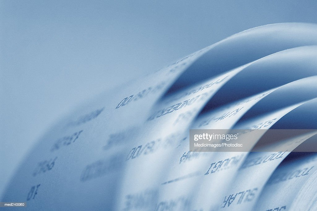 Close-up of a roll of paper : Stock Photo